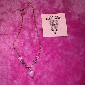 Tarina Tarantino heart Lucite gold necklace